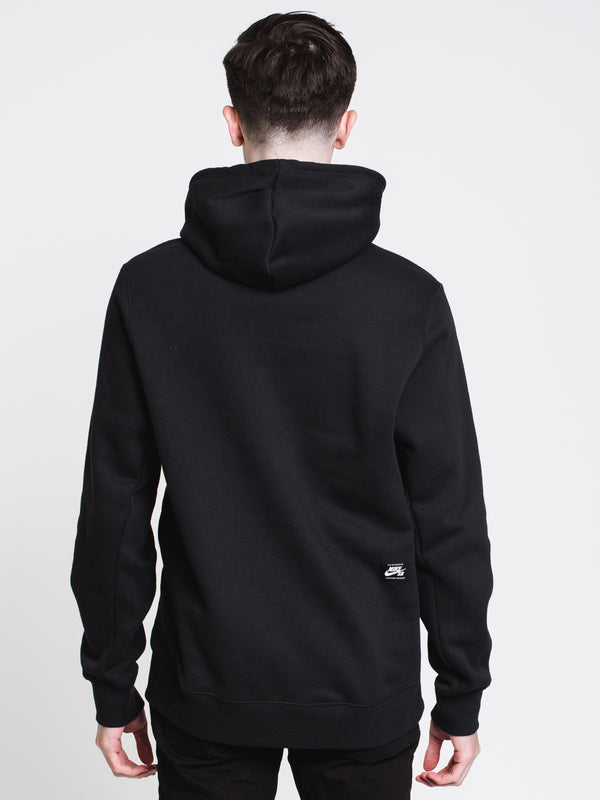 MENS SB ICON PULL OVER HOODIE - BLK/WHT