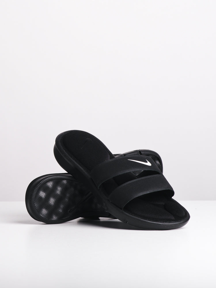 1393c8204 WOMENS ULTRA COMFORT SLIDE BLK WHT SANDALS- CLEARANCE
