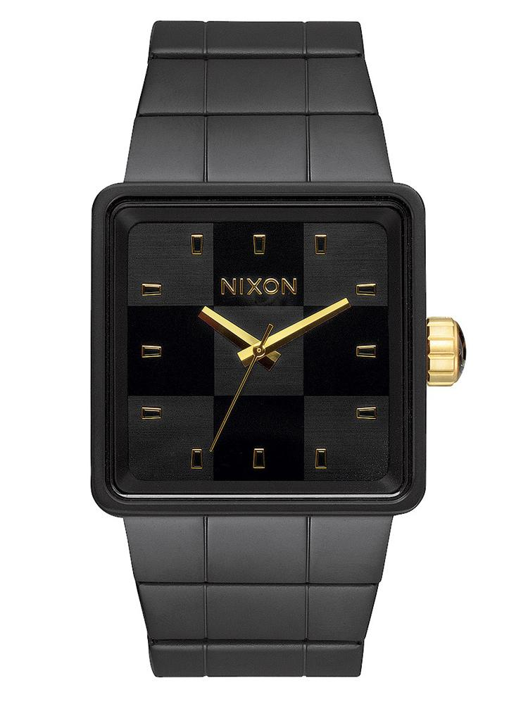 MENS QUATRO - MATTE BLACK/GOLD WATCH