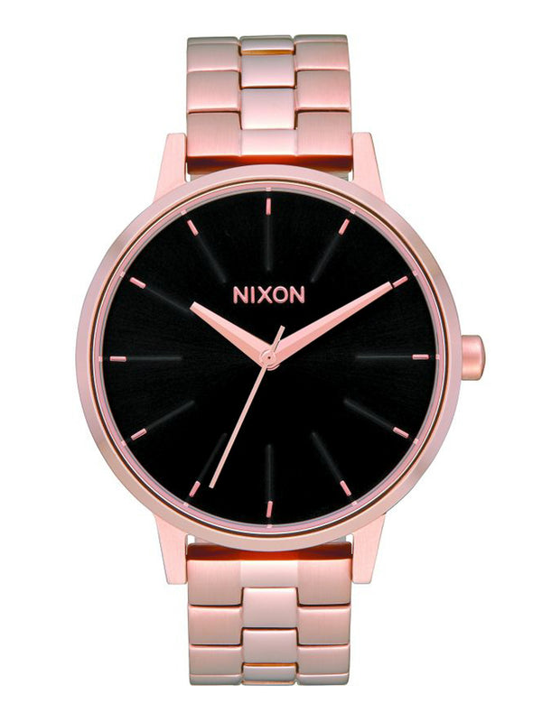 WOMENS KENSINGTON WATCH - ROSE GOLD/BLACK