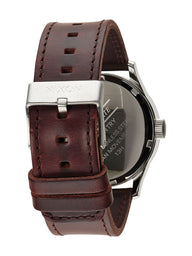 MENS SENTRY LTHR - BLUE/BROWN WATCH