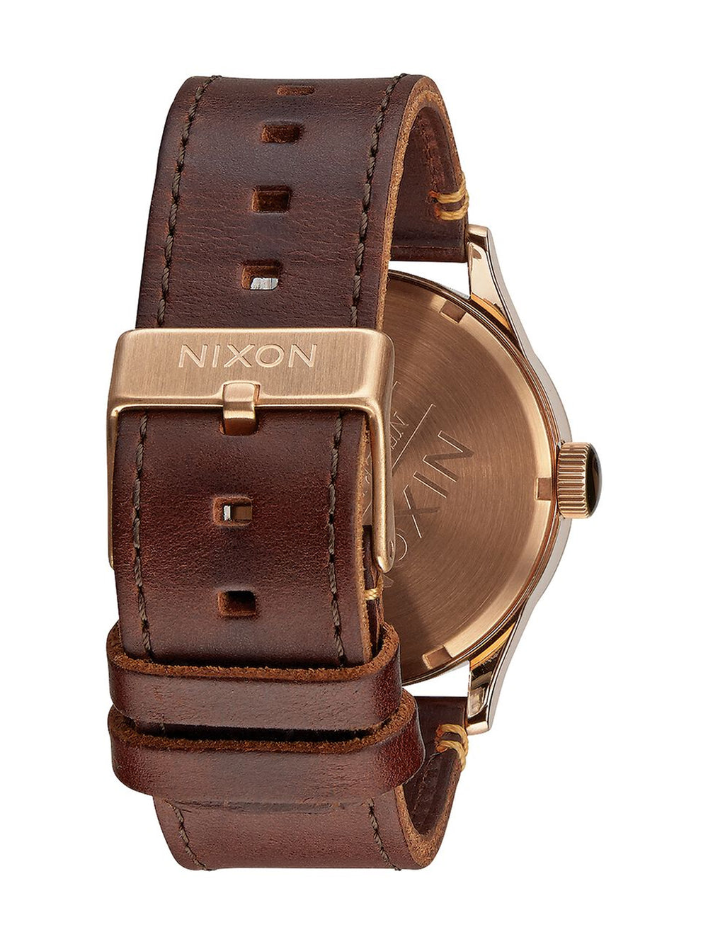 MENS SENTRY LEATHER - ROS/GUN/BRN WATCH