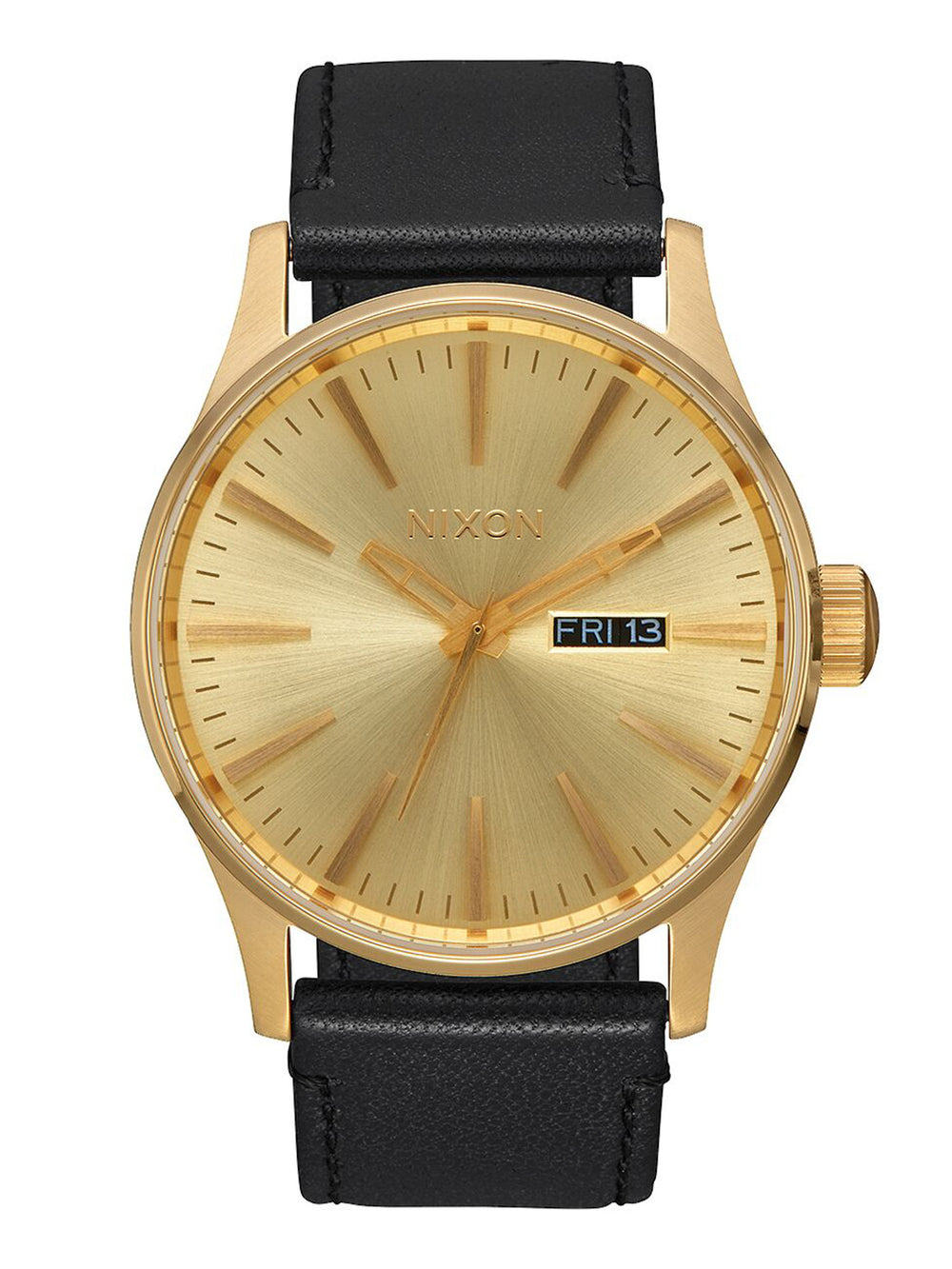 MENS SENTRY LEATHER - ALL GOLD/BLACK WATCH