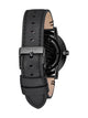 MENS PORTER LEATHER - ALL BLACK WATCH