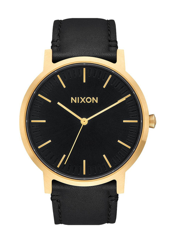 MENS PORTER LEATHER - GOLD/BLACK WATCH