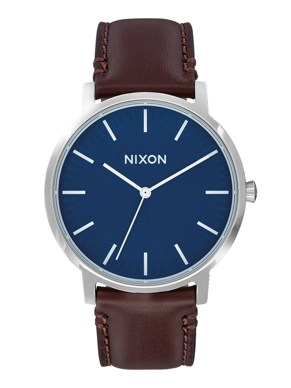 MENS PORTER LEATHER - NAVY/BROWN WATCH