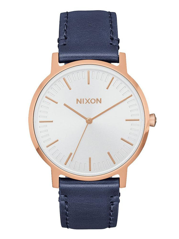 WOMENS PORTER 35 LEATHER - ROSE/NAVY WATCH