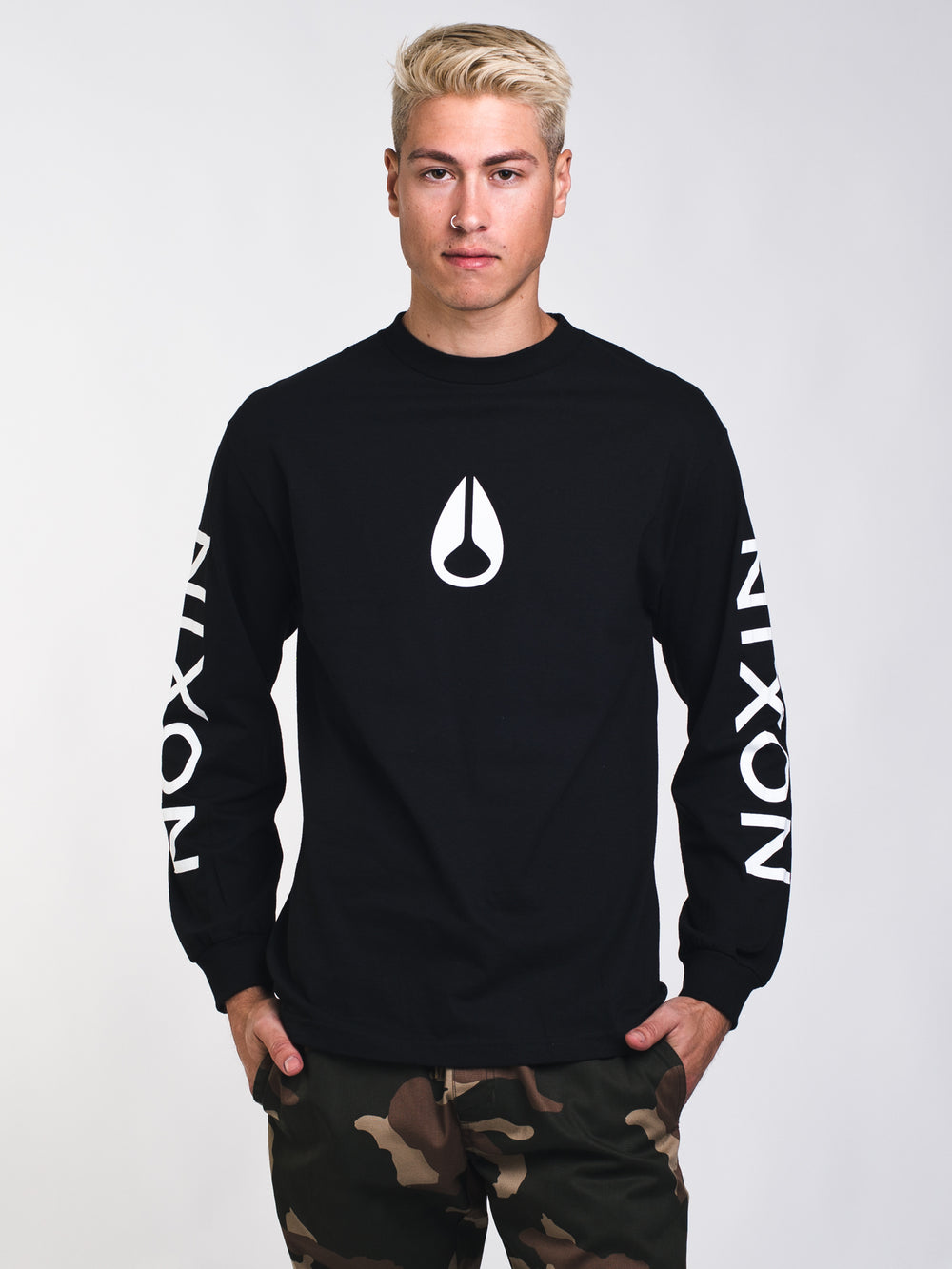 MENS WINGS LONG SLEEVE T-SHIRT - BLACK