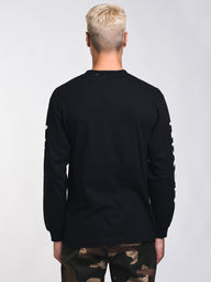 MENS WINGS L/S T - BLACK