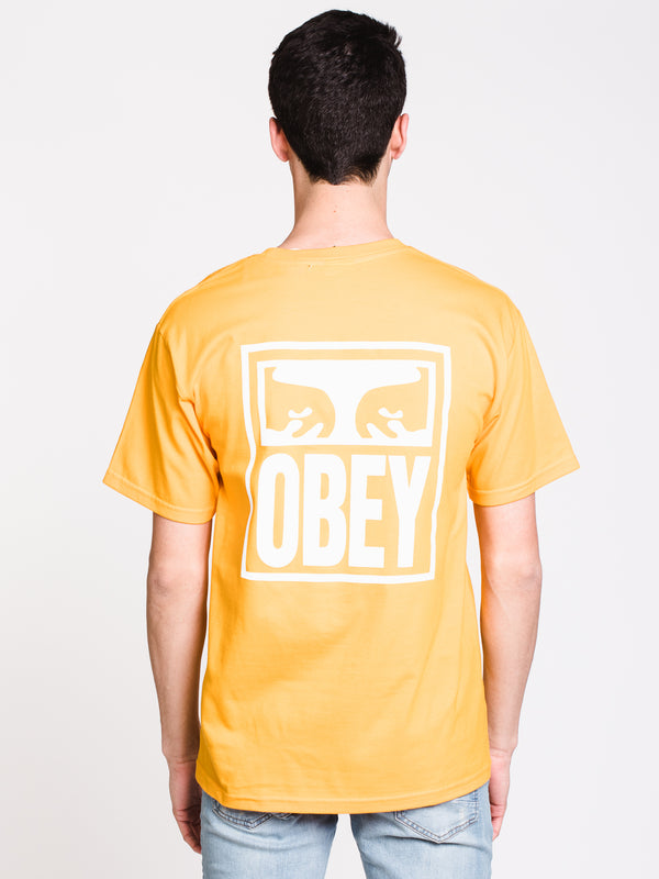 MENS OBEY EYES ICON SHORT SLEEVE T-SHIRT - GOLD