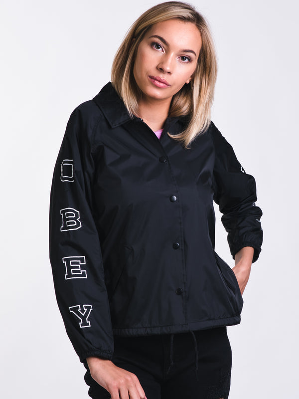 WOMENS CORE VARSITY VERTICAL JACKET