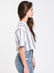 WOMENS OBEY SASS SHORT SLEEVE CROP TEE