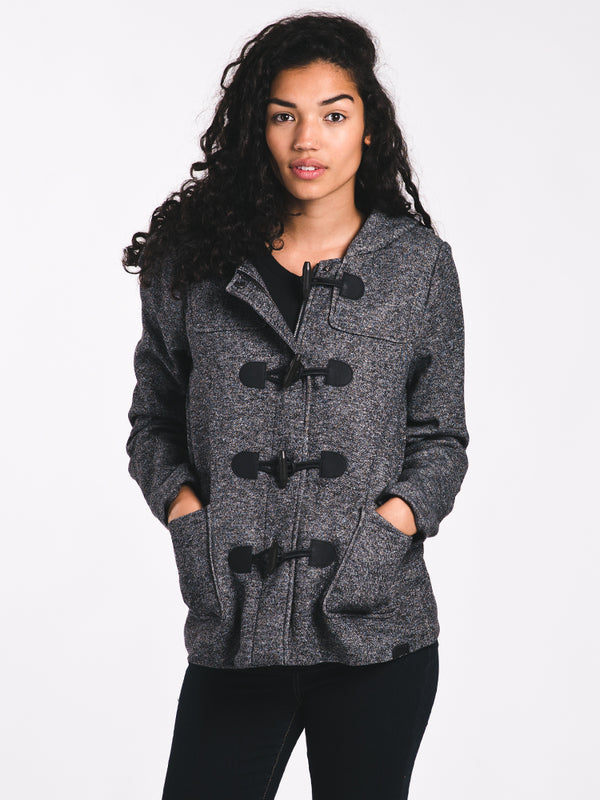WOMENS CECILIA DUFFLE COAT - GREY