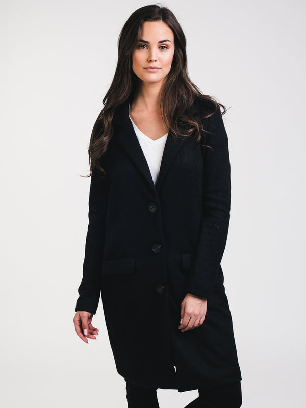 WOMENS BESTY KNIT JACKET - BLACK