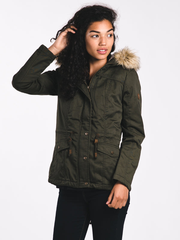 WOMENS KATE PARKA - PEAT OLIVE