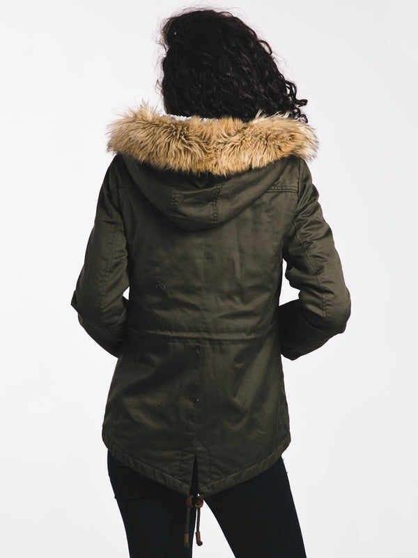 WOMENS KATE PARKA - PEAT OLIVE - CLEARANCE
