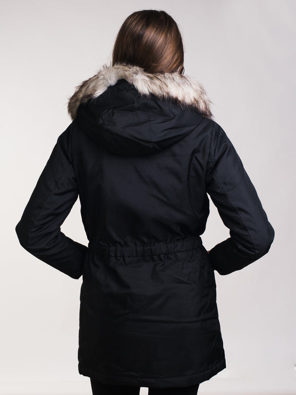 WOMENS IRIS PARKA - BLACK - CLEARANCE