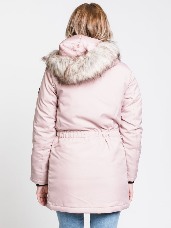 WOMENS IRIS PARKA - ROSE DUST