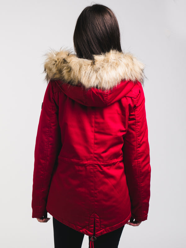 WOMENS KATE PARKA - SCOOTER RED - CLEARANCE