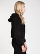 WOMENS ANNA SHERPA JACKET - BLACK