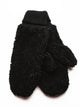 TEDDY MITTENS - BLACK