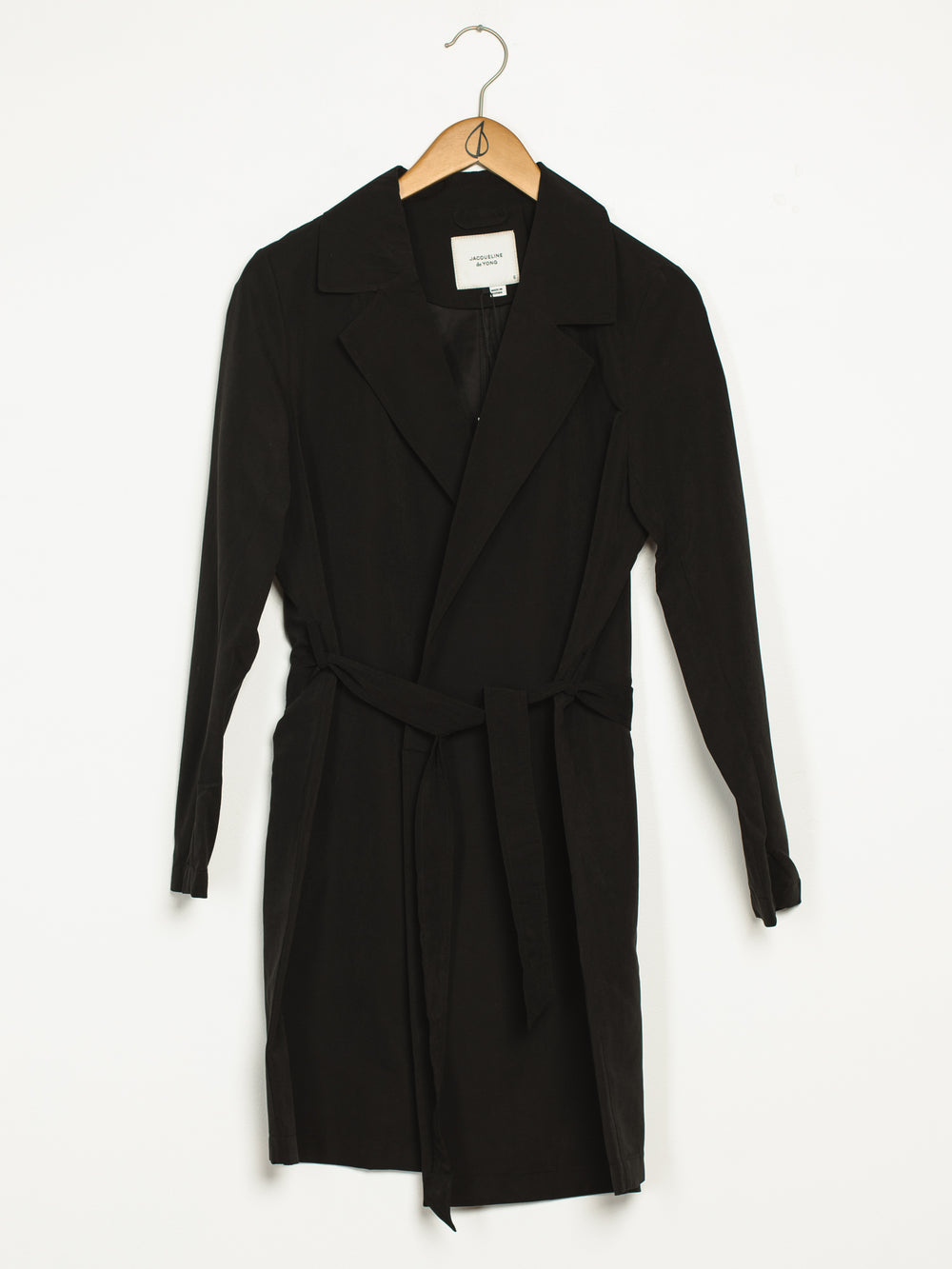 WOMENS PASCHAL TRENCH COAT - BLACK