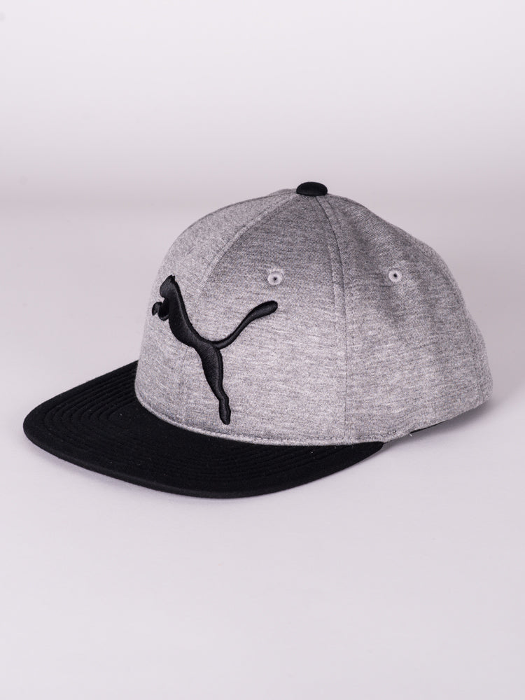 EVO FLEX FIT HAT - GREY/BLACK - CLEARANCE