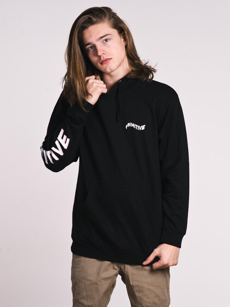 MENS BLACK HOLE 3D PULL OVER HOODIE