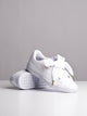 WOMENS BASKET HEART PATENT WHITE SNEAKERS- CLEARANCE