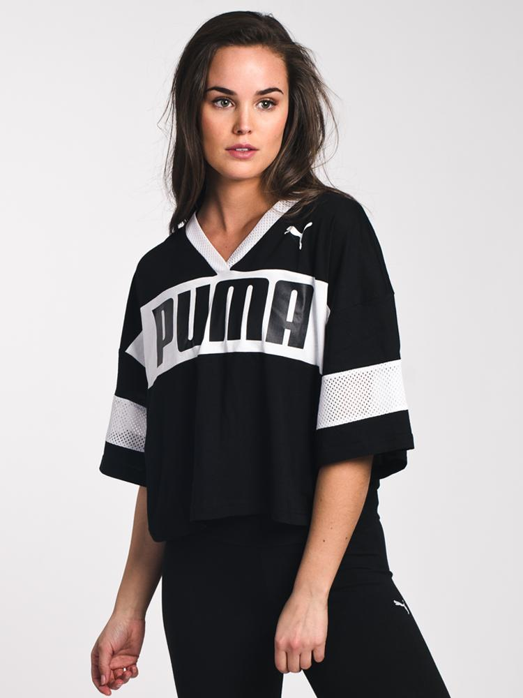 WOMENS URBAN SPORTS CROPPED TEE- CLEARANCE