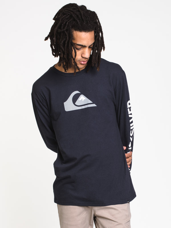 MENS COMP LOGO LONG SLEEVE TEE- NAVY BLAZER