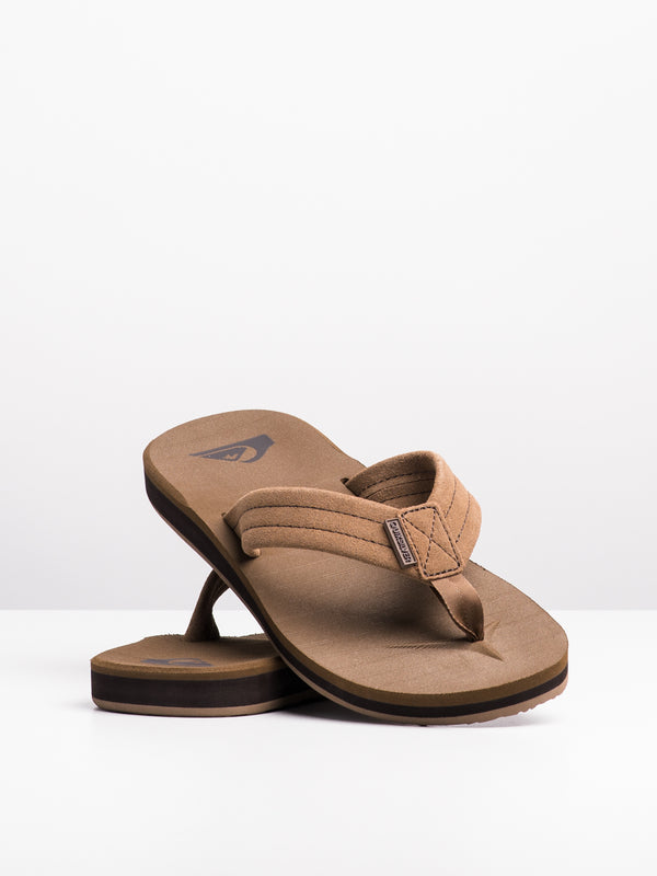 MENS CARVER SUEDE TAN SOLID SANDALS