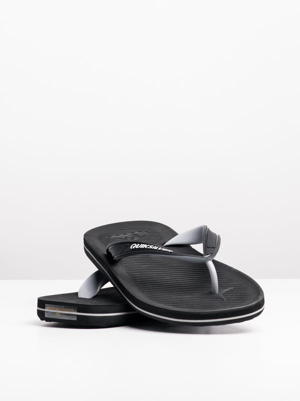 MENS HALEIWA BLACK/GREY/BLACK SANDALS