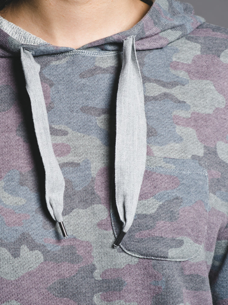 WOMENS LONDON CROPPED HOODIE - CAMO- CLEARANCE