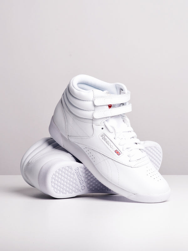 WOMENS FREESTYLE HI WHITE SNEAKERS