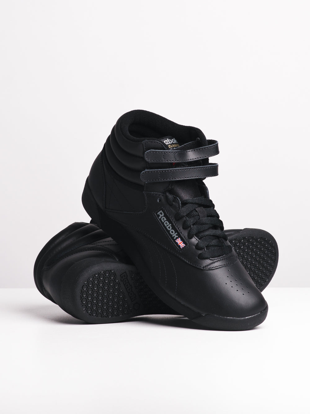 WOMENS FREESTYLE HI BLACK SNEAKERS