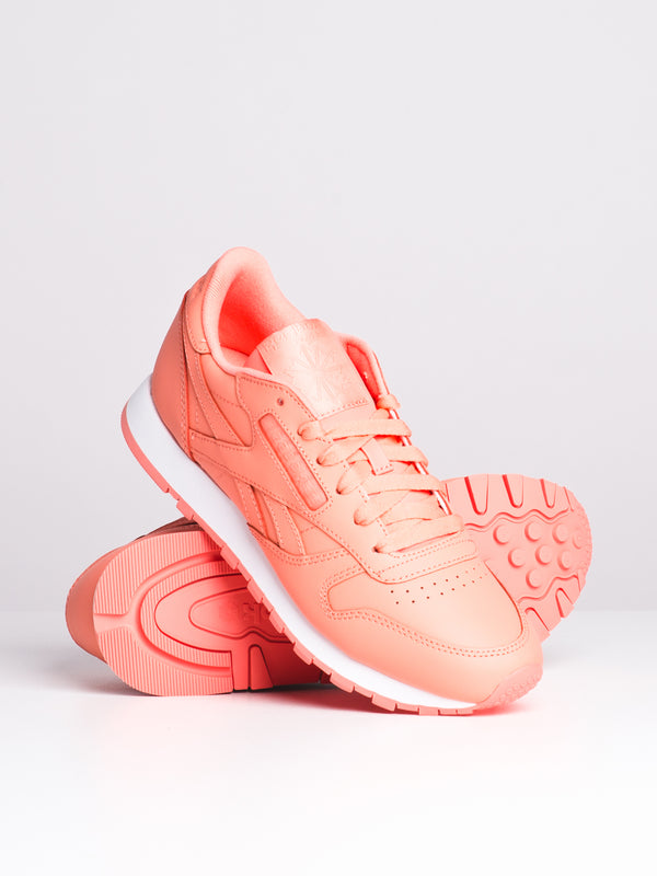 WOMENS CLASSIC LEATHER - PINK/WHITE
