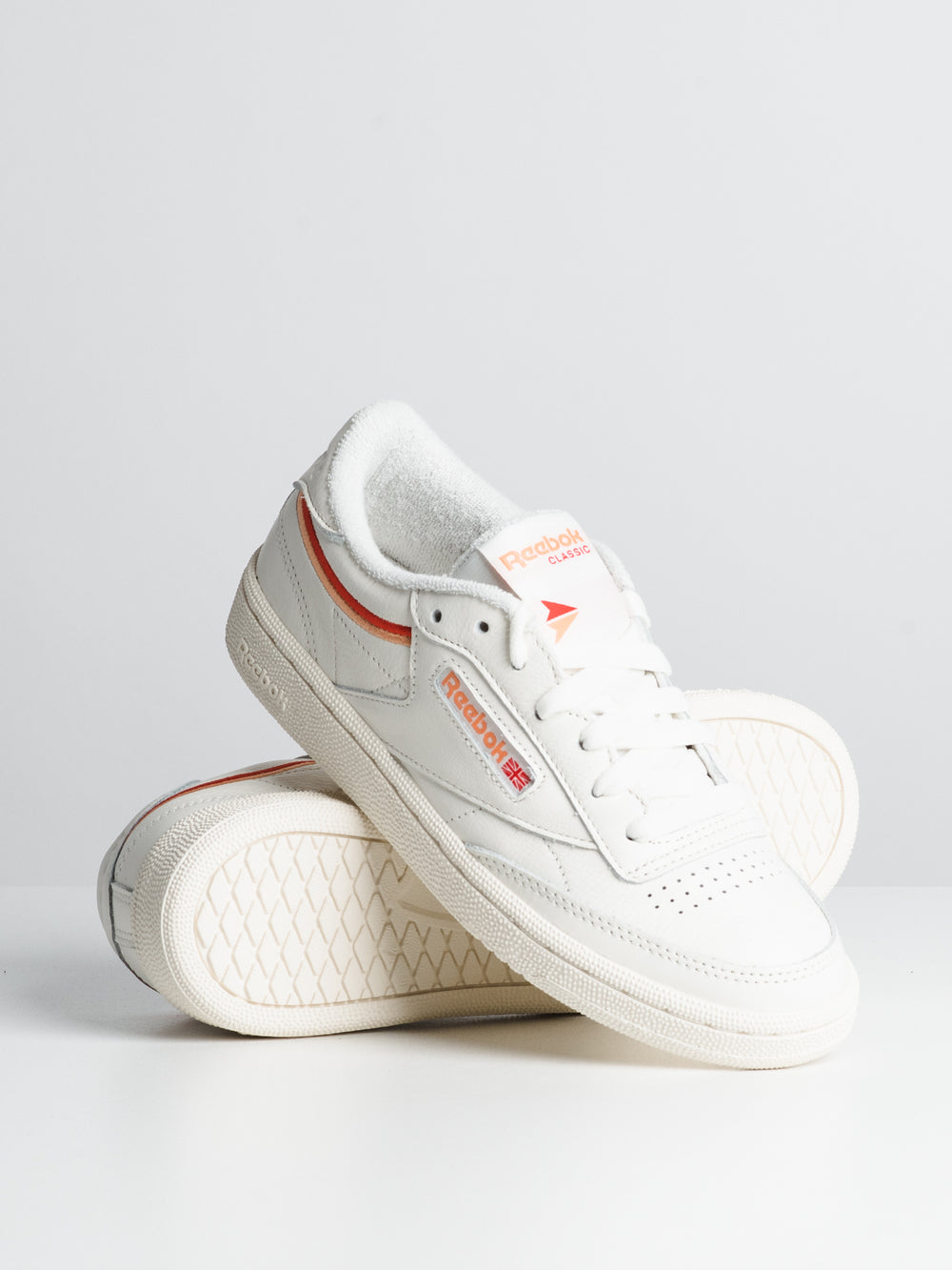 WOMENS CLUB C 85 - CHALK/ORANGE/RED