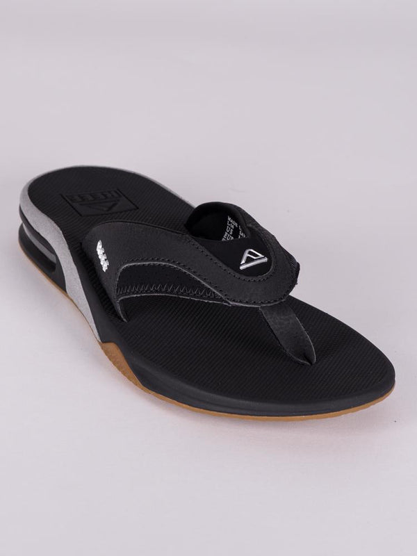 MENS FANNING BLACK/SILVER SANDALS