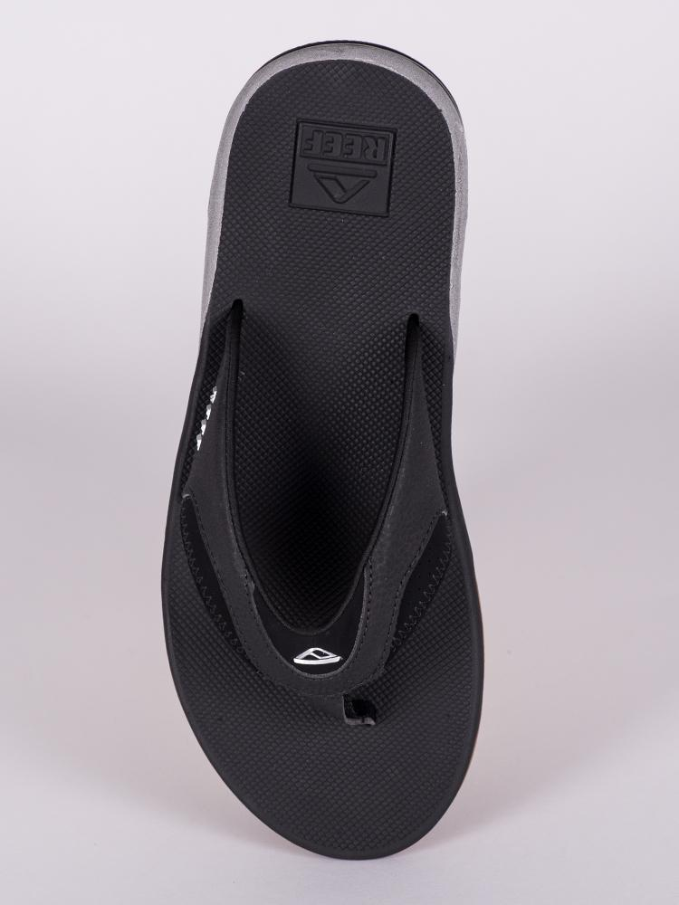 MENS FANNING BLACK/SILVER SANDALS- CLEARANCE