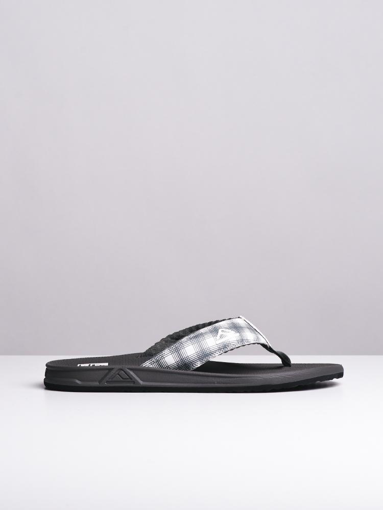 MENS PHANTOM PRINTS WHITE PLAID SANDALS