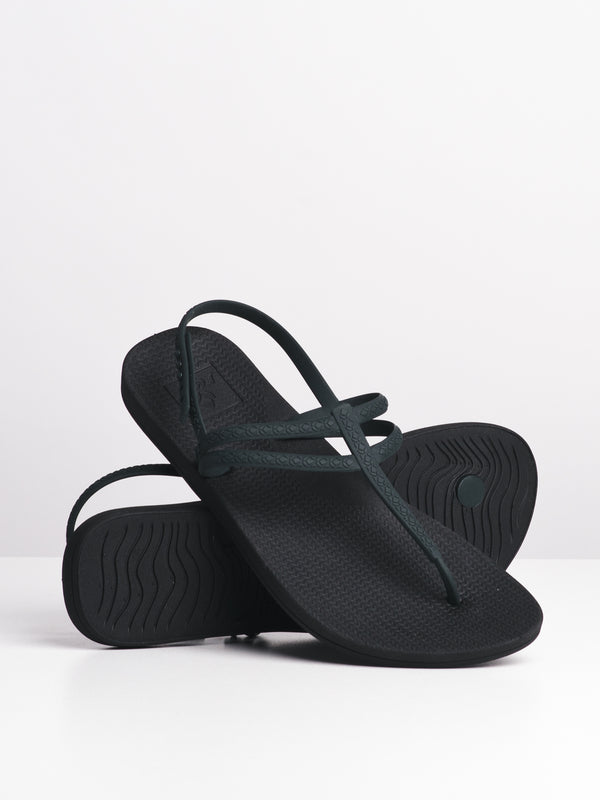 WOMENS REEF ESCAPE LUX T BLACK SANDALS- CLEARANCE
