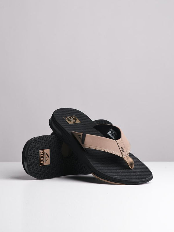 MENS FANNING 2.0 BLACK/TAN SANDALS
