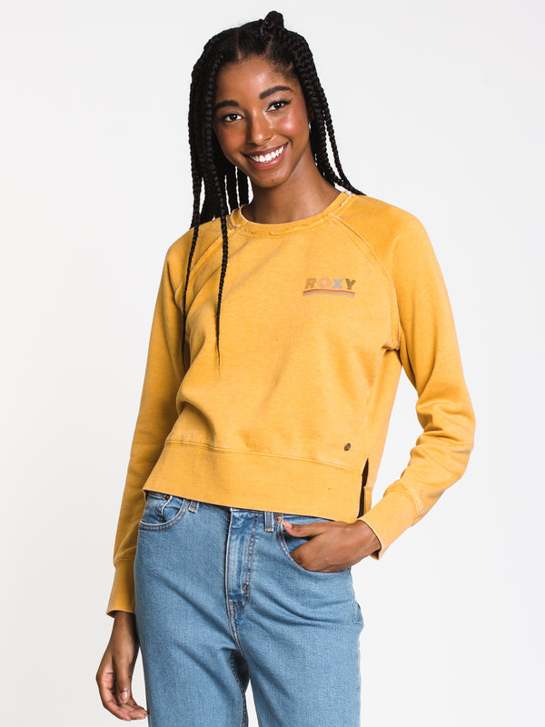 WOMENS CATCH THE SUN LONG SLEEVE CREW - YEL