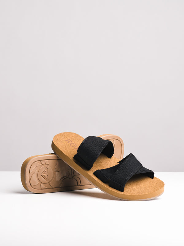 WOMENS SHORESIDE BLACK SANDALS- CLEARANCE