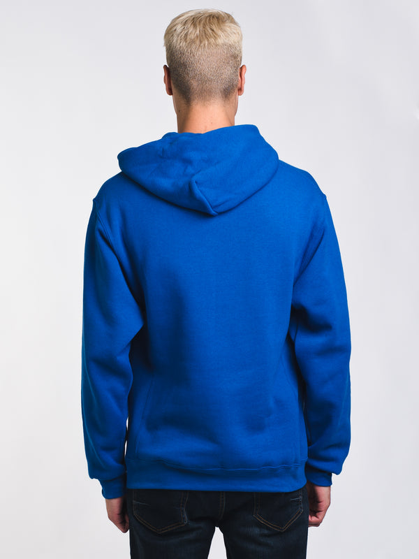 MENS CHENILLE PULLOVER HOODIE- ROYAL - CLEARANCE