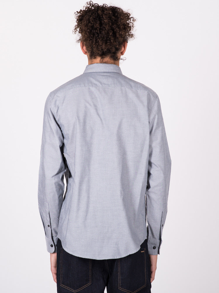 MENS THAT'LL DO LONG SLEEVE OXFORD - GREY