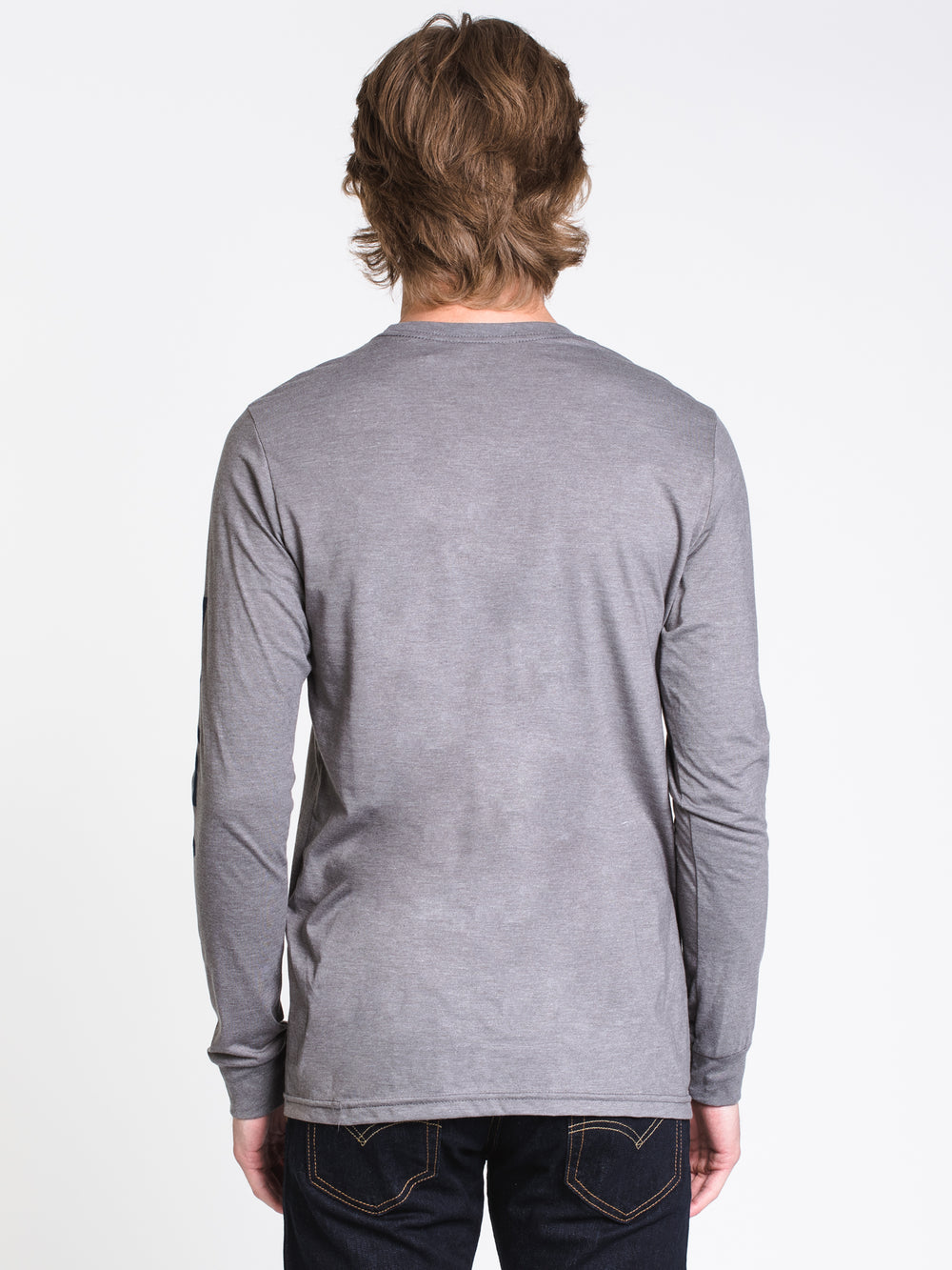 MENS BIG RVCA L/S T - GREY NOISE
