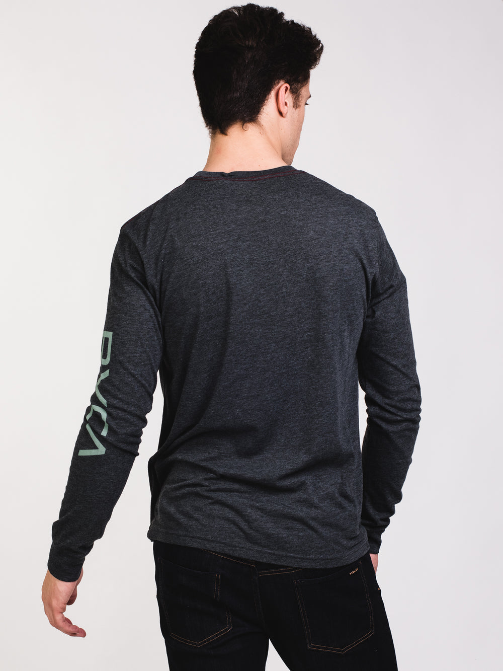 MENS BIG RVCA LONG SLEEVE T-SHIRT