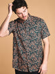 MENS BARROW SHORT SLEEVE WOVEN - TERRA- CLEARANCE